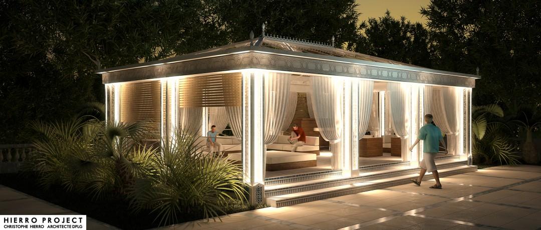 3D Pool House de nuit