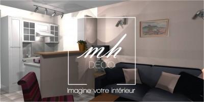 3D : Vue du salon cocooning