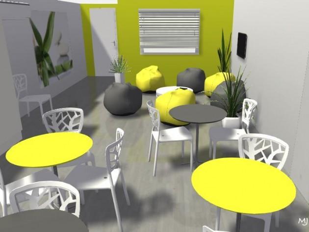 3D - vue du fond de la salle