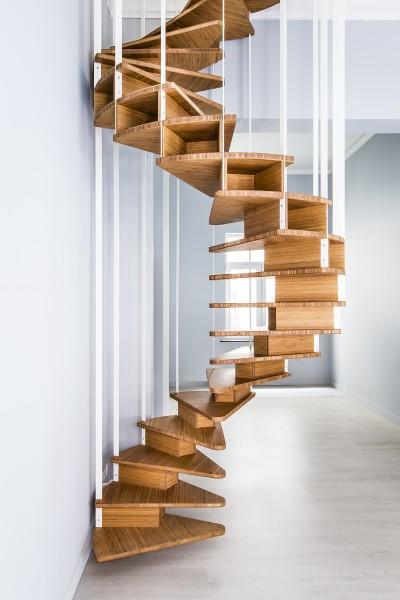 4,5m, une belle spirale suspendue