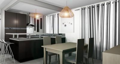 salon salle manger marron photo salon salle manger marron page 20 id. Black Bedroom Furniture Sets. Home Design Ideas