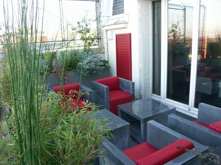 Aménagement terrasse avec mobilier outdoor