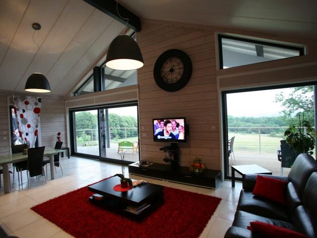 construction maison ossature bois guillaumie ameublement salon id. Black Bedroom Furniture Sets. Home Design Ideas