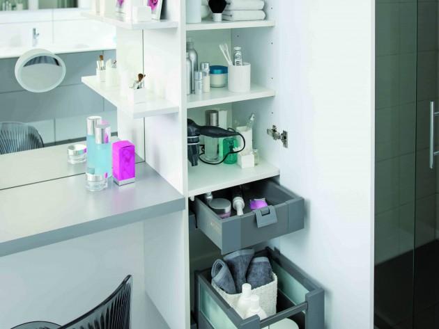 salle de bains strass - schmidt - armoire de rangement pratique ... - Rangement Pratique Salle De Bain