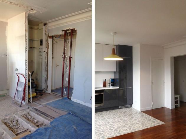 Avant / après : La rénovation de la cuisine