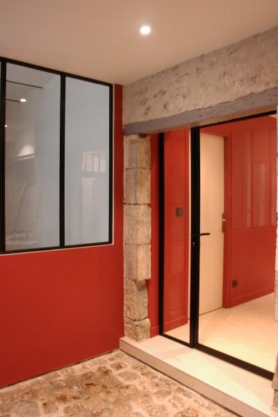 Restructuration duplex atelier o 39 carr id - Baie coulissante sur mesure ...
