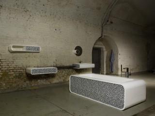 Baignoire et éléments de salle de bains