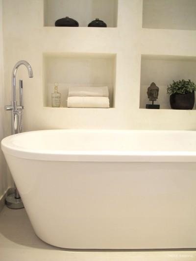 salle de bain baignoire ilot - inside création : idéesmaison.com - Salle De Bain Baignoire Ilot