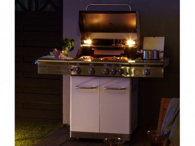 L 39 ext rieur ma maison mon jardin barbecue gaz for Barbecue contemporain exterieur