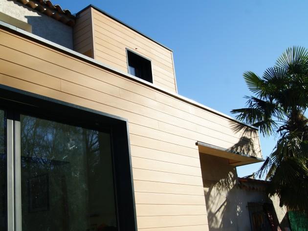 Pose bardage bois - Terrasses et Aménagements