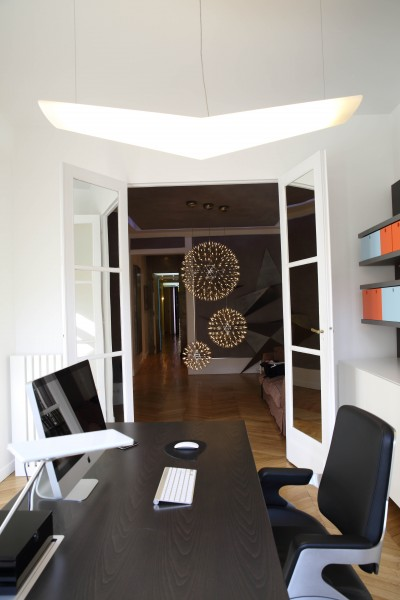 Bureau classique avec luminaires design