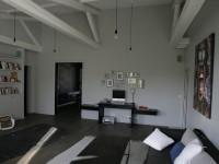 Bureau console dans salon