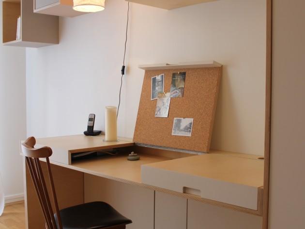 Bureau et rangements sur mesure