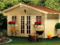 Bureau jardin bois