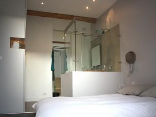 Cabine de douche vitrée