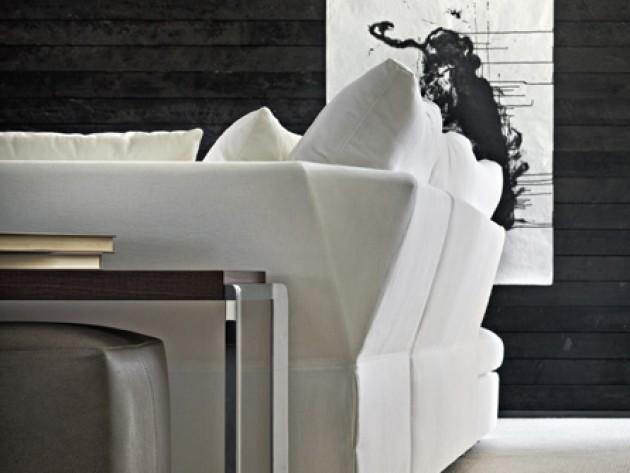 Canapé d'angle blanc et design