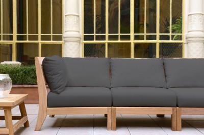 Canapé d'angle jardin