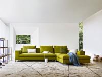 Canapé d'angle vert anis