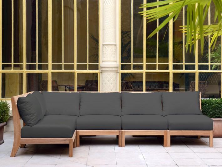 Mobilier de jardin design - Tectona - Canapé jardin bois ...