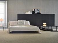 Canapé lit blanc ouvert