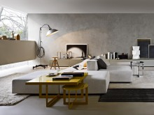 Canapé modulable gris clair