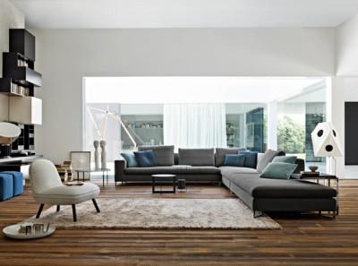 Canapé modulable gris