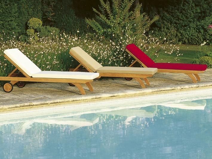 mobilier de jardin design tectona chaise longue en teck id. Black Bedroom Furniture Sets. Home Design Ideas