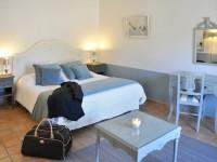 Chambre à coucher dans les tons bleus et lavande
