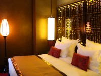 Chambre asiatique de l'hôtel Buddha