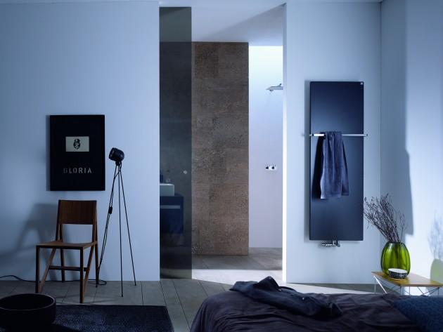 Chambre avec sèche-serviette design