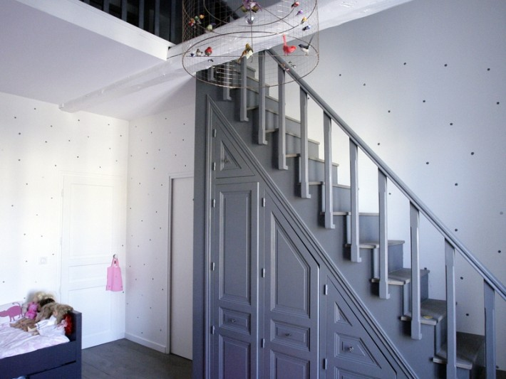 Chambre de petite fille avec mezzanine