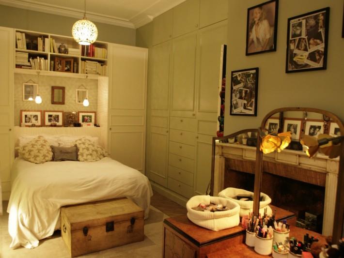 Chambre féminine et chaleureuse