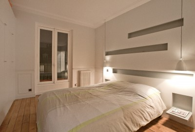 Photos sur le th me rangement sur mesure id - Tete de lit en bois avec rangement ...