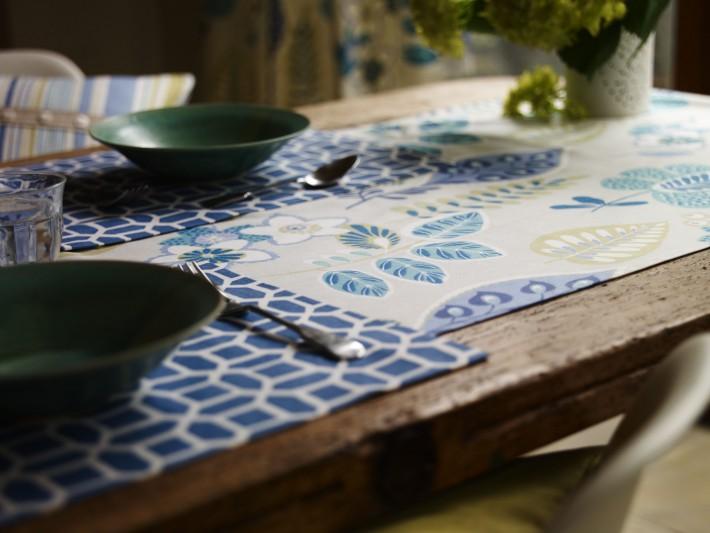 Chemin de table et set de table en tissu