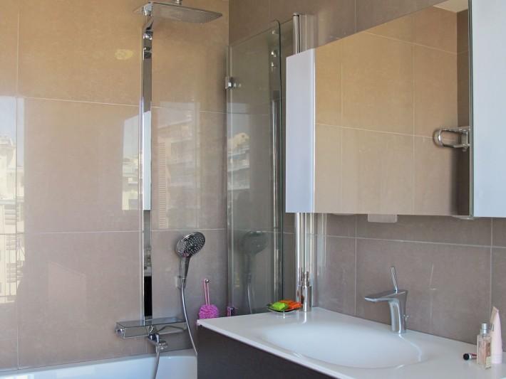 Colonne de douche de chez Hansgrohé