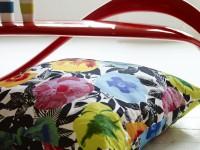 Coussins décoratifs au tissu imprimé floral
