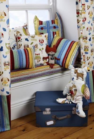Coussins décoratifs avec motifs animaux de la forêt
