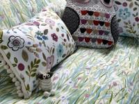 Coussins décoratifs avec pompons