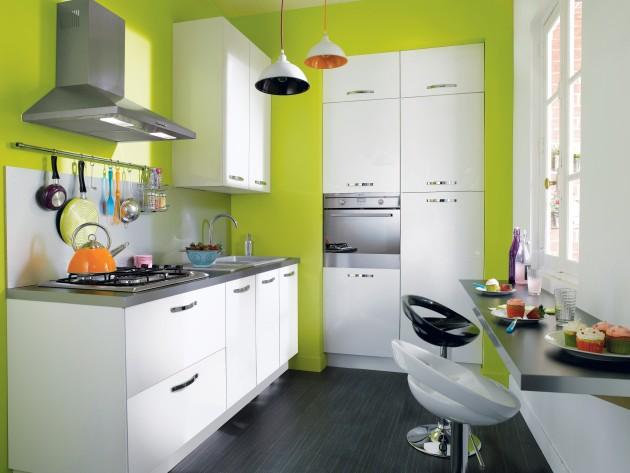 Cuisines contemporaines conforama cuisine keywest for Couleur mur avec cuisine blanche
