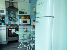 Cuisine bleue et verte style années 50