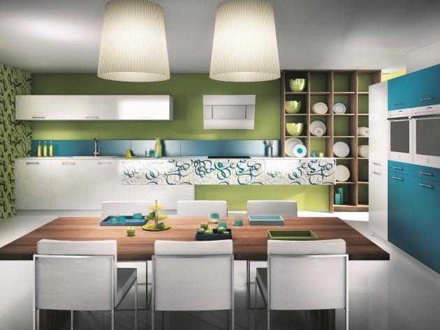 Cuisine Tallys blanc - MOBALPA - Cuisine colorée : Idéesmaison.com