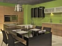 Cuisine moderne verte pistache