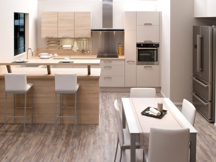 Cuisine appartement cuisines aviva cuisine ouverte sur for Plan cuisine ouverte salle manger