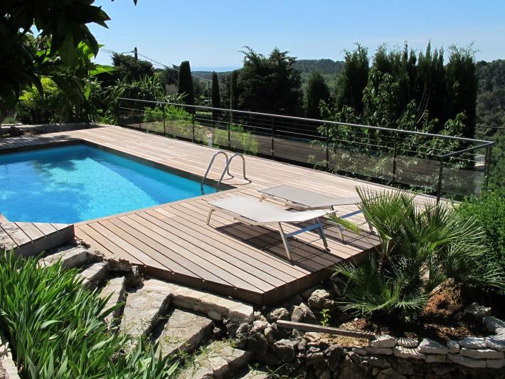 Deck piscine en ipé