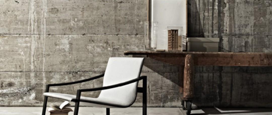 Décor industriel avec fauteuil simple