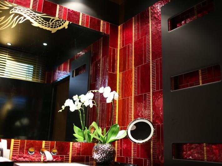 Décoration asiatique de salle de bain