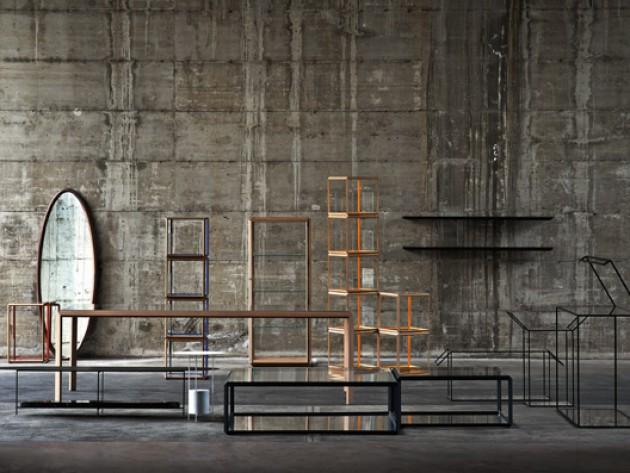 Décoration avec des meubles de forme géométrique