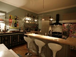 Décoration colorée de cuisine vintage