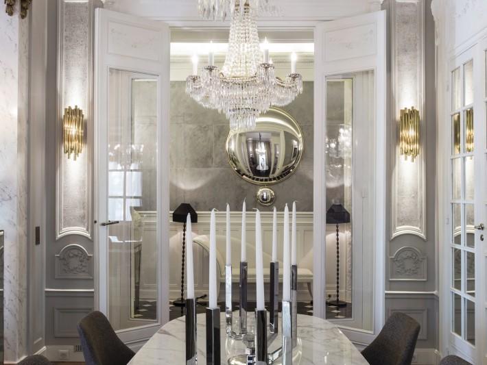 Décoration contemporaine dans un intérieur classique