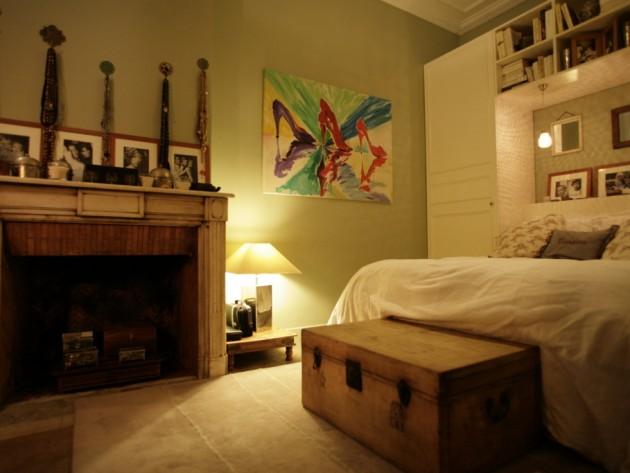 Décoration de chambre avec tableau coloré
